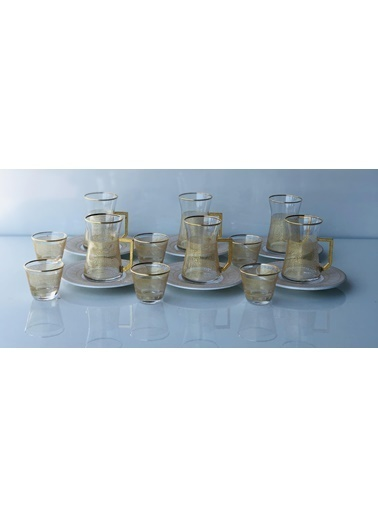 Emre Züccaciye Emr Lüx Exlusive Çay Bardak - Çay Bardağı Takımı Seti 18Prç. Renkli